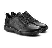 נעלי סניקרס GEOX לגברים U NEBULA B - TUMB.LEA - שחור