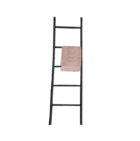 סולם במבוק אמיתי 5 שלבים גובה 175 ס''מ שחור