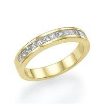 """טבעת יהלומים זהב צהוב """"פאולה"""" 0.69 קראט"""