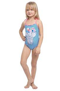 בגד-ים שלם פילפילון לילדות Pilpel בצבע כחול לבן