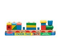 רכבת צורות וקוביות מעץ