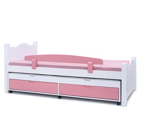 מיטת יחיד מעץ מלא במגוון צבעים לבחירה דגם נועם