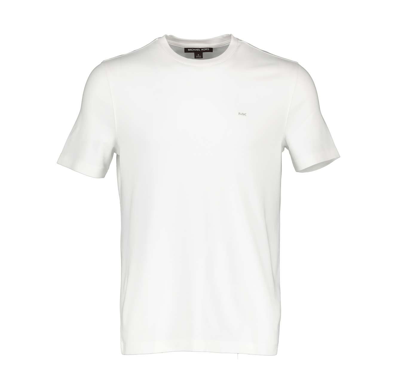 חולצת טי שירט לגברים צוורון עגול MICHAEL KORS - לבן