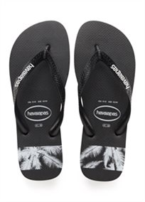 Havaianas גברים //  Top Stripes Logo Black