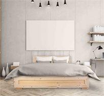 מיטה מעוצבת מעץ אורן מלא + מזרן מתנה