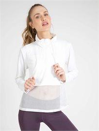 ARENA נשים // חולצת רשת לבן