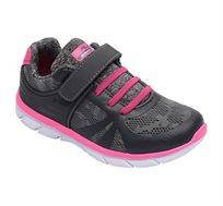 נעלי ספורט לילדים FILA דגם Yura - אפור כהה וורוד פוקסיה