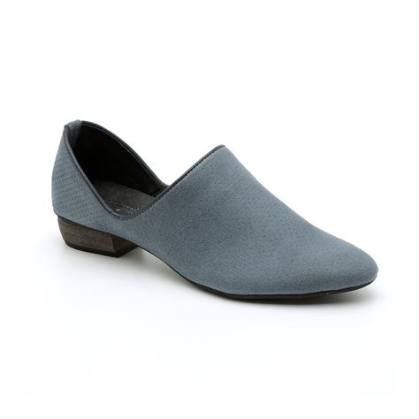 Seventy Nine - נעלי עור קלאסיות עם חרטום מחודד בצבע כחול גינס