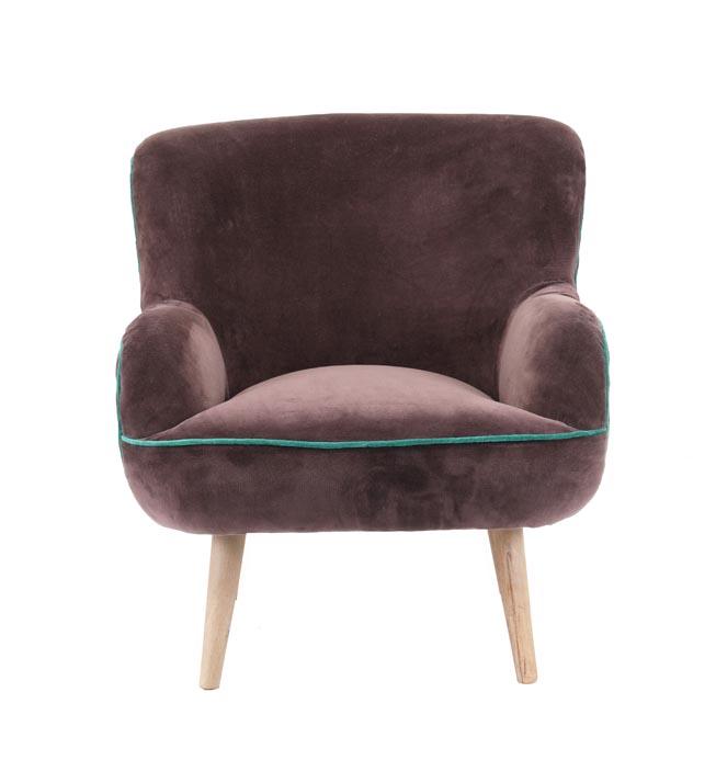 כורסת ישיבה מעוצבת דגם אריס ביתילי בעלת מושב מרווח ומרופד בבד קטיפה  - תמונה 3