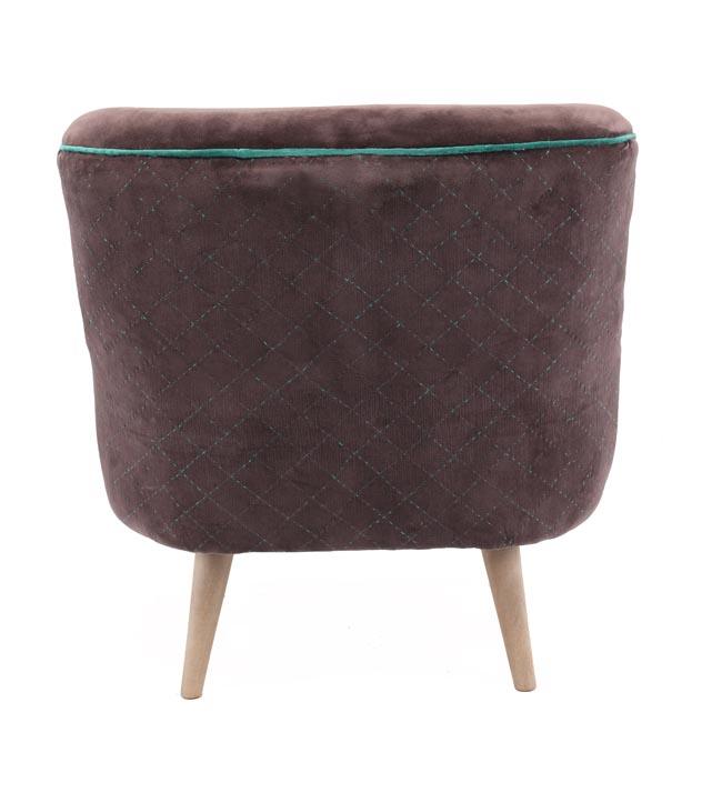 כורסת ישיבה מעוצבת דגם אריס ביתילי בעלת מושב מרווח ומרופד בבד קטיפה  - תמונה 4