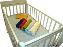 סדין למיטת התינוק מבית מילגה, עשוי בד נמתח, מתאים לכל סוגי המיטות, ללא צורך בגיהוץ