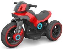 אופנוע Police 6V מפואר עם אפקטים ואור - אדום Twist