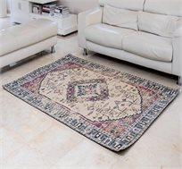 שטיח איכותי באריגת ג'אקרד STEMS-BLUE-PINK תוצרת הודו במגוון גדלים