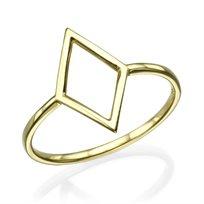 """טבעת זהב צהוב """"מעויין"""""""