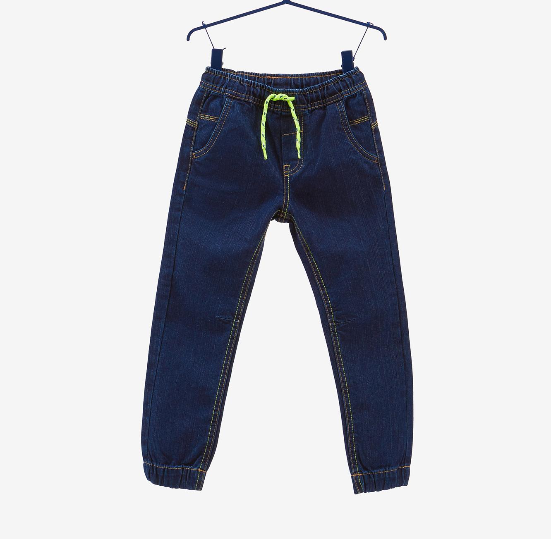מכנס OVS במראה ג'ינס עם שרוך לילדים - דנים