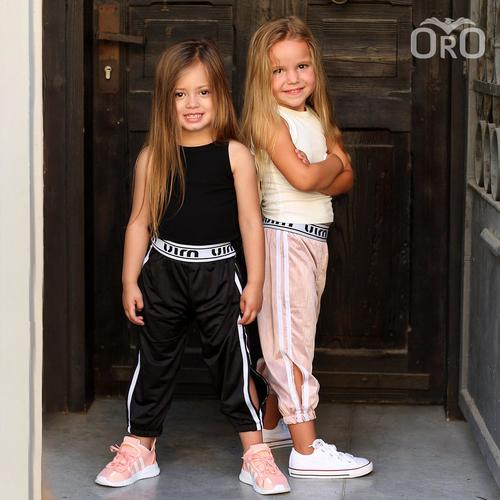 Oro/  מכנסי ניילון (2- 7 שנים) גומי שחור