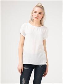 חולצת אריג לבנה