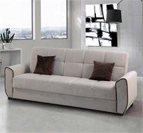 ספה תלת מושבית נפתחת עם ארגז מצעים דגם PARIS