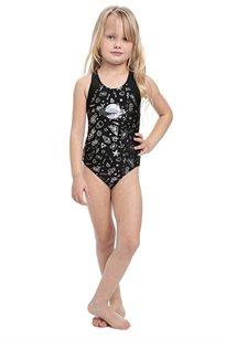 בגד-ים שלם כוכבים לילדות Pilpel בצבע שחור