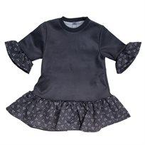 ORO שמלה (14-2 שנים)- משולשים אפור בהיר