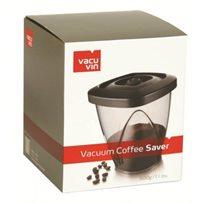 """קופסת ואקום 1300 מ""""ל לאחסון ושמירה על טריות הקפה מבית vacu vin"""