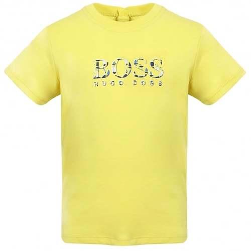 Boss בוס טישרט (9 חודשים)- צהוב סמל באמצע