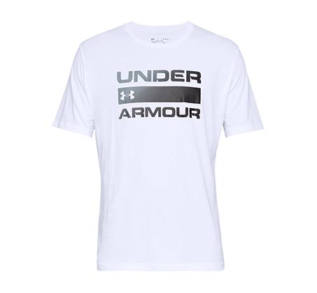 חולצת טי שרט עם הדפס Under Armour Team Issue Wordmark SS לגברים - לבן