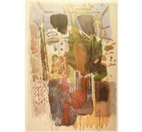 """""""נוף מופשט"""" - ציורו של סטימצקי אביגדור, ליטוגרפיה בחתימה אישית בגודל 92X62 ס""""מ"""