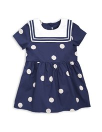 Mini Rodini// Dot Woven Sailor Dress Navy