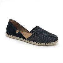 Verbenas Carmen - נעלי סירה בצבע שחור עם חלק קדמי מחורר