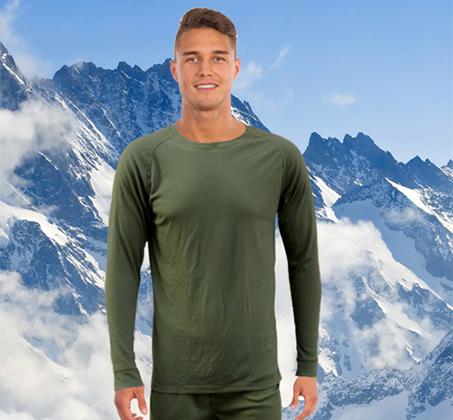 סט מכנסיים וחולצה תרמיים מנדפי זיעה לתנאי קור GO NATURE - משלוח חינם - תמונה 4