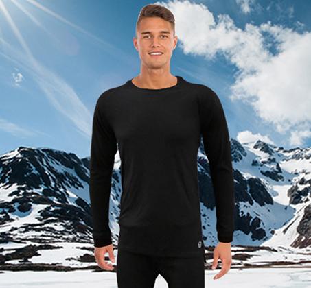 סט מכנסיים וחולצה תרמיים מנדפי זיעה לתנאי קור GO NATURE - משלוח חינם - תמונה 5