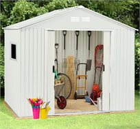 מחסן לחצר עם דלתות הזזה בגודל 2.13X2.55