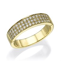 """טבעת יהלומים """"ריימונד"""" 0.50 קראט זהב צהוב"""