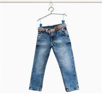 מכנסי ג'ינס ארוכים OVS לילדים עם אפקט מכובס - Medium Wash