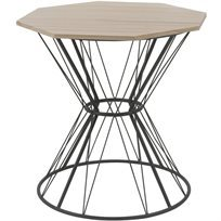 שולחן סלון Origami - בז' & שחור - משלוח חינם