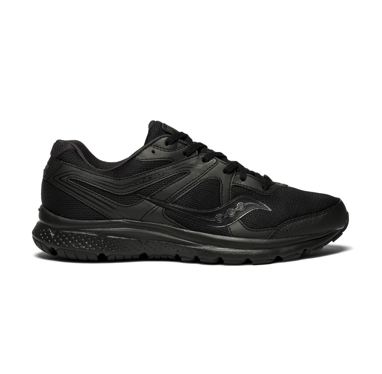 נעלי ריצה לגבר Saucony דגם רחב GRID COHESION 11 - שחור
