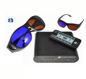 ממיר טלוויזיה 2D עם אפקט 3D תלת מימד + 2 זוגות משקפיי תלת מימד מתנה