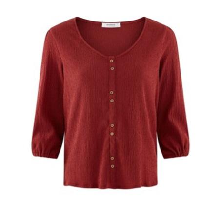 חולצה עם כפתורי דמה וסיומת אלסטית Promod לנשים - צבע לבחירה