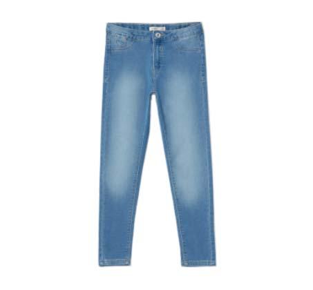 ג'ינס סקיני פרנץ' טרי לילדות - כחול