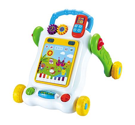 הליכון מחשב לתינוקות עם לוח משחק לפיתוח מיומנויות מוטוריות המעודדות הליכה