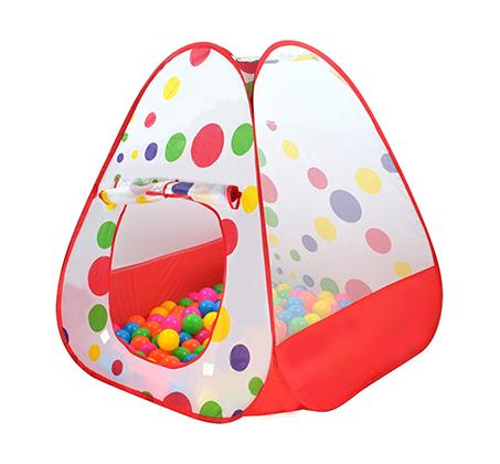 מארז לילדים אוהל כדורים מתקפל עם מנהרה + 100 כדורים