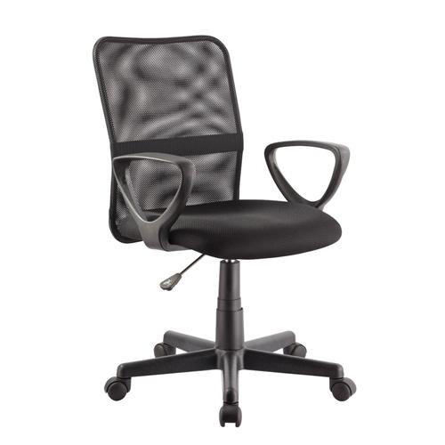 כסא משרדי עם גב רשת וידיות דגם דביר HOME DECOR