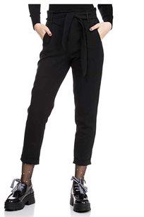מכנס קשירה גבוה - שחור