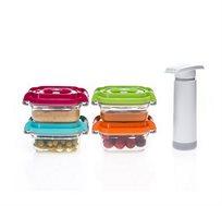 סט קופסאות מזון לתינוקות בטכנולוגית וואקום עמוק - STATUS