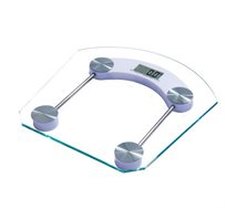 משקל אדם דיגיטלי מרובע מזכוכית מחוסמת