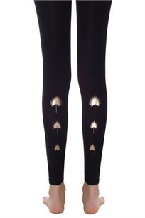 גרביון סביונים Zohara ללא כף רגל - שחור