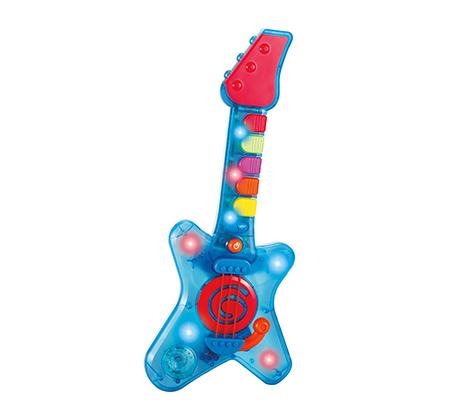 """""""גיטרת הרוק הראשונה שלי"""" - גיטרת משחק מהנה לפיתוח מיומנויות מוטוריות, לעולם מלא דמיון ומוזיקה"""