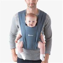 מנשא בד לתינוק אמברייס Embrace עם 3 תנוחות נשיאה - כחול אוקספורד