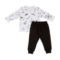חליפת גן Minene לילדים (2-7 שנים) מקושקש אפור